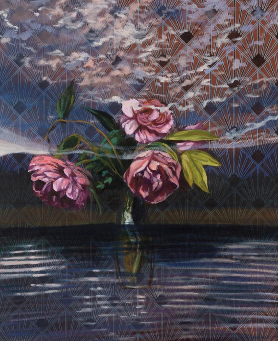 Olivier Masmonteil, Reflet sur la Rangitata, 2018, Peinture à l'huile, oeuvre peintre