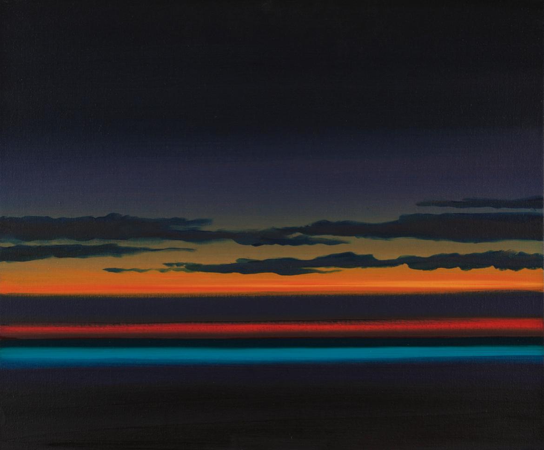 Olivier Masmonteil, peinture à l'huile, paysage, oeuvre, Stiller Sturm, 2018